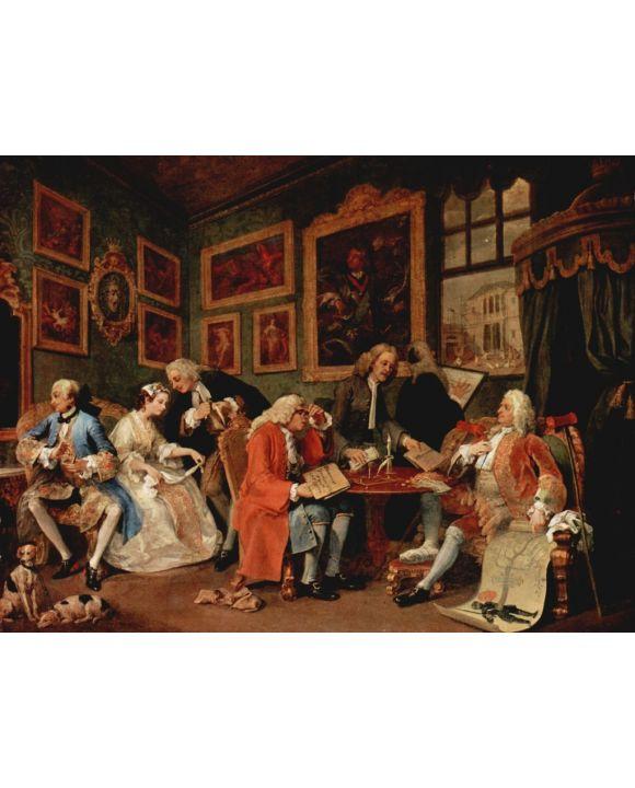 Lais Puzzle - William Hogarth - Gemäldezyklus »Mariage à la Mode«, Szene: Der Ehevertrag - 500 Teile