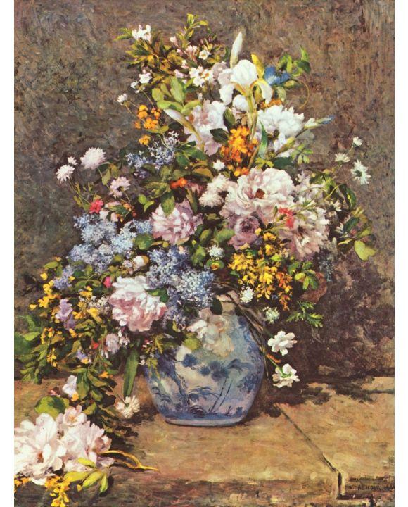 Lais Puzzle - Pierre-Auguste Renoir - Stilleben mit großer Blumenvase - 1.000 Teile