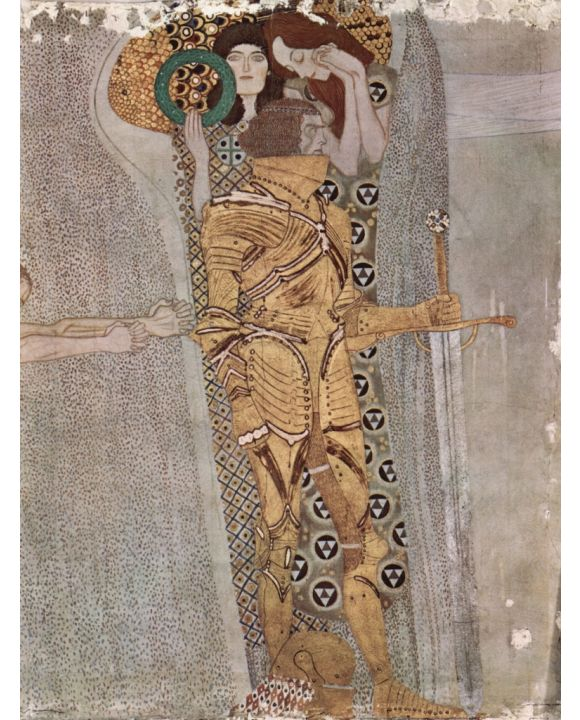 Lais Puzzle - Gustav Klimt - Der Beethovenfries, Wandgemälde im Sezessionshaus in Wien, heute Österreiche Galerie  - 500 Teile