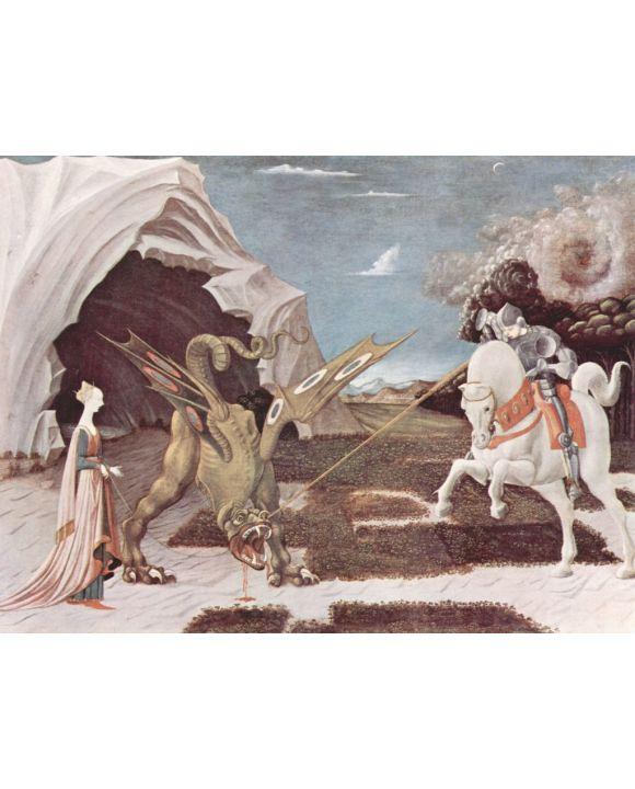 Lais Puzzle - Paolo Uccello - Hl. Georg im Kampf mit dem Drachen - 1.000 Teile