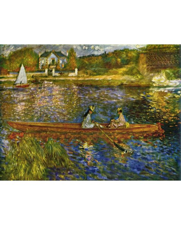Lais Puzzle - Pierre-Auguste Renoir - Seine bei Asnères (Das Boot) - 1.000 Teile
