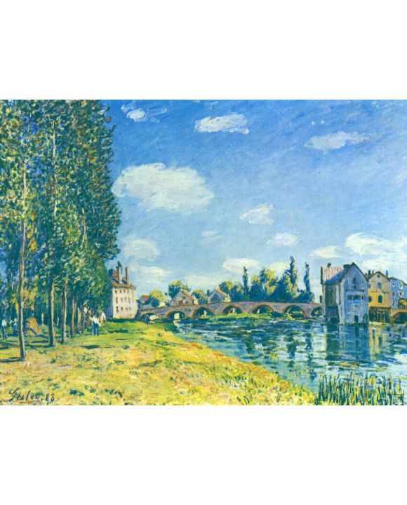 Lais Puzzle - Alfred Sisley - Brücke von Moret im Sommer - 1.000 Teile