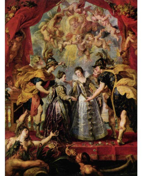 Lais Puzzle - Peter Paul Rubens - Gemäldezyklus für Maria de' Medici, Austausch der Prinzessinnen - 1.000 Teile