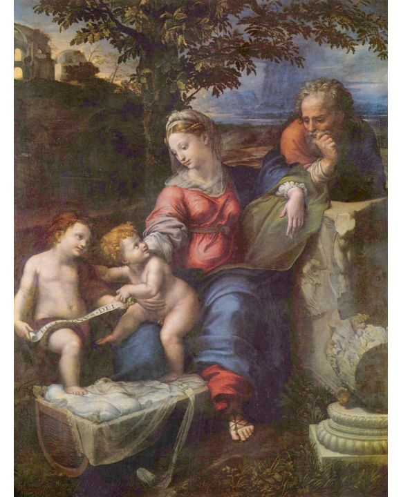 Lais Puzzle - Raffael - Hl. Familie unter der Eiche, mit Johannes dem Täufer - 500 & 1.000 Teile