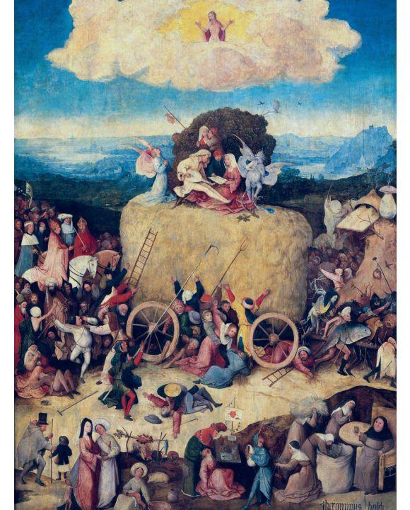 Lais Puzzle - Hieronymus Bosch - Heuwagen, Triptychon, Mitteltafel: Der Heuwagen - 1.000 Teile