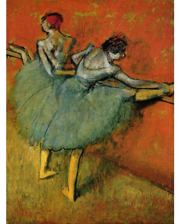 Lais Puzzle - Edgar Germain Hilaire Degas - Tänzerinnen an der Stange - 1.000 Teile