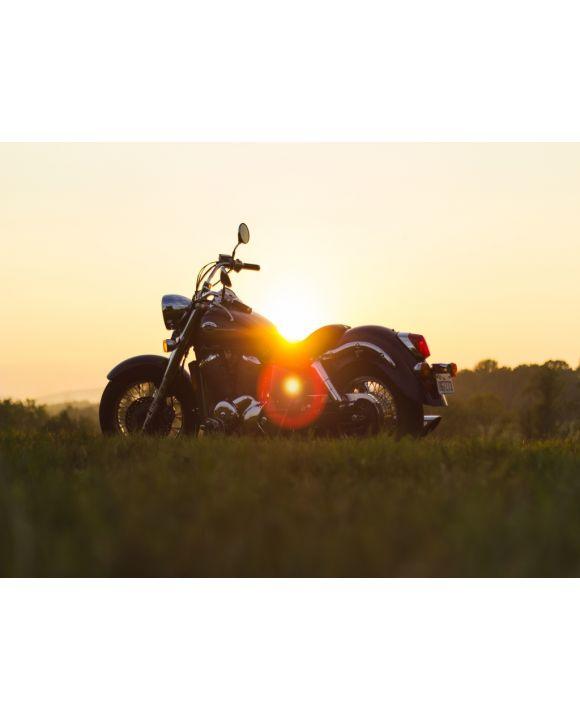 Lais Puzzle - Motorrad vor dem Sonnenuntergang - 500, 1.000 & 2.000 Teile