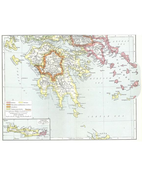 Lais Puzzle - Landkarte Historical Atlas - William R. Shepherd südliches Griechenland Antik - 100, 200, 500, 1.000 & 2.000 Teile