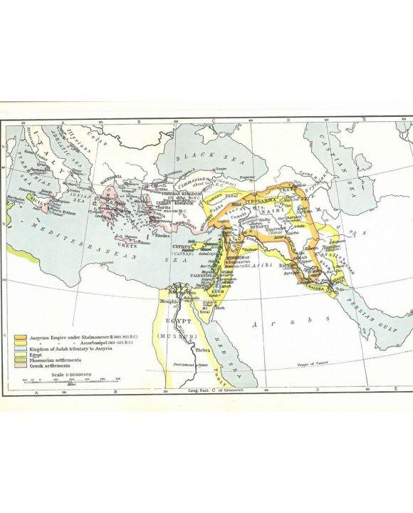 Lais Puzzle - Landkarte Historical Atlas - William R. Shepherd Das Assyrische Reich 850-625 v.Chr. - 2.000 Teile
