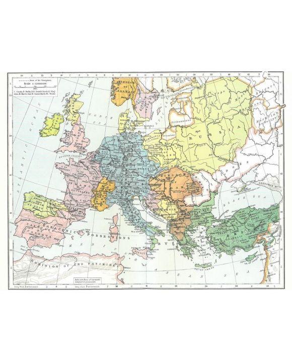 Lais Puzzle - Landkarte Historical Atlas - William R. Shepherd Europa und das Byzantinische Imperium um 1000 - 2.000 Teile