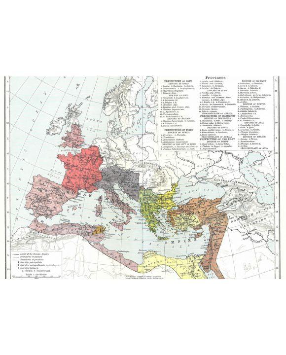 Lais Puzzle - Landkarte Historical Atlas - William R. Shepherd Römisches Reich um 395 - 1.000 Teile