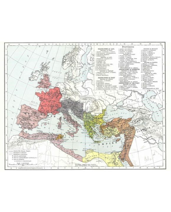Lais Puzzle - Landkarte Historical Atlas - William R. Shepherd Römisches Reich um 395 - 100, 200, 500, 1.000 & 2.000 Teile