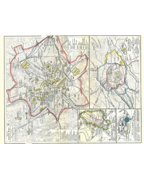 Lais Puzzle - Landkarte Historical Atlas - William R. Shepherd Stadtpläne von Athen und Rom - 500 Teile