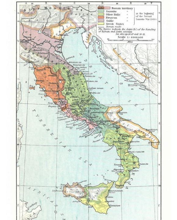 Lais Puzzle - Landkarte Historical Atlas - William R. Shepherd Das Wachstum des Römischen Reiches bis 218 vor Christus - 500 Teile
