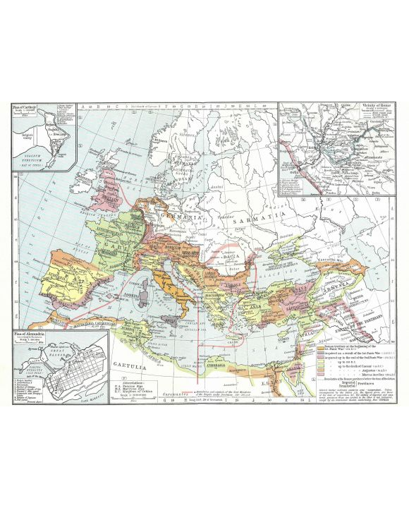 Lais Puzzle - Landkarte Historical Atlas - William R. Shepherd Territoriale Expansion Roms - 100, 200, 500, 1.000 & 2.000 Teile