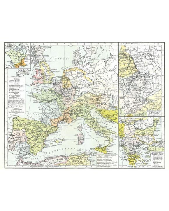 Lais Puzzle - Landkarte Historical Atlas - William R. Shepherd Europäische Provinzen Roms - 100, 200, 500, 1.000 & 2.000 Teile