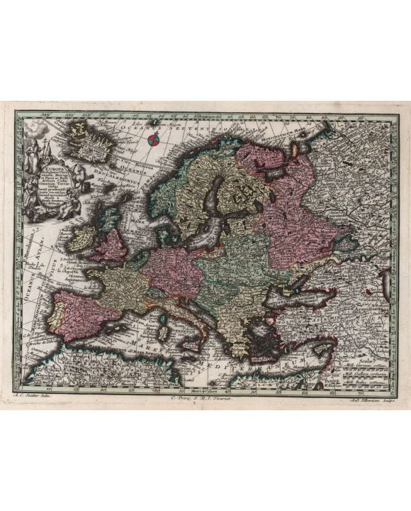 Lais Puzzle - Matthäus Seutter Landkarte - Atlas Novas Indicibus Instructus (1744) - Europa - Motivserie - 100, 200, 500, 1.000 & 2.000 Teile