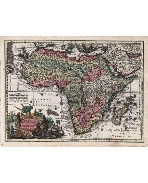 Lais Puzzle - Matthäus Seutter Landkarte - Atlas Novas Indicibus Instructus (1744) - Afrika - Motivserie - 1.000 Teile