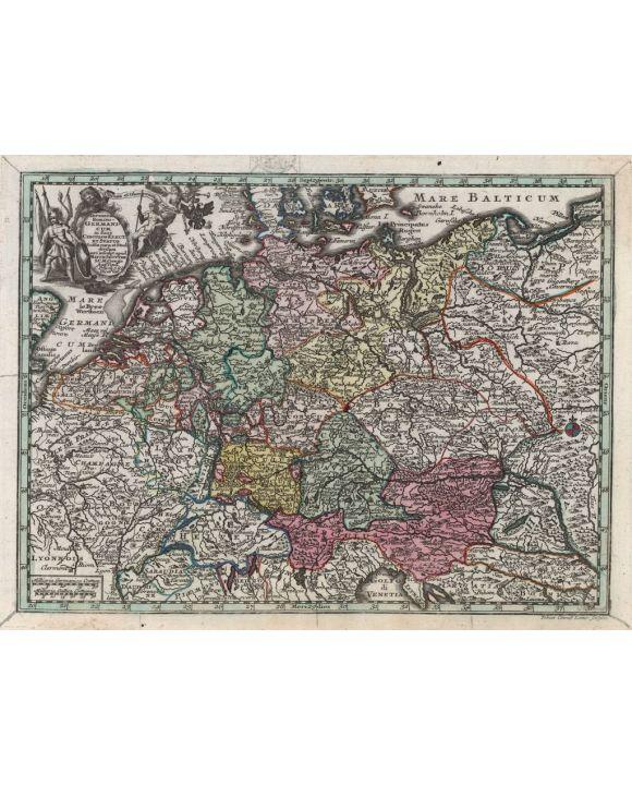 Lais Puzzle - Matthäus Seutter Landkarte - Atlas Novas Indicibus Instructus (1744) - Imperium Romano-Germanicum (Deutschland) - Motivserie - 500 Teile