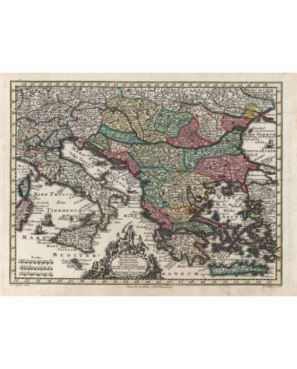Lais Puzzle - Matthäus Seutter Landkarte - Atlas Novas Indicibus Instructus (1744) - Danubii et praesertim Hungaria (Südosteuropa) - Motivserie - 2.000 Teile