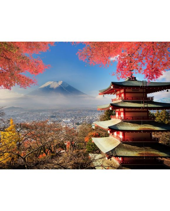 Lais Puzzle - Mount Fuji Japan in Herbstfarben - 100, 200, 500, 1.000 & 2.000 Teile