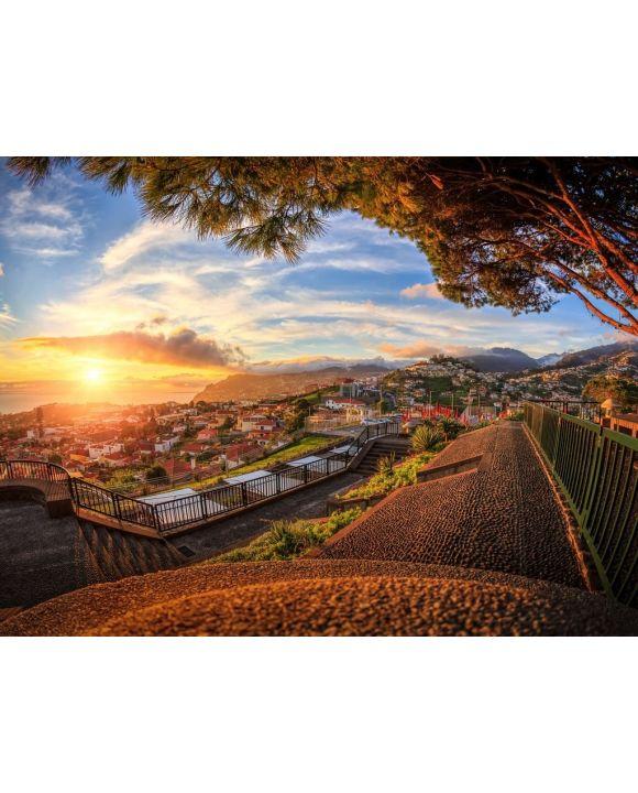 Lais Puzzle - Madeira Portugal Funchal Blick von Monte - 100, 200, 500, 1.000 & 2.000 Teile