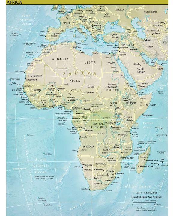 Lais Puzzle - Landkarte Afrika - 100, 200, 500, 1.000 & 2.000 Teile