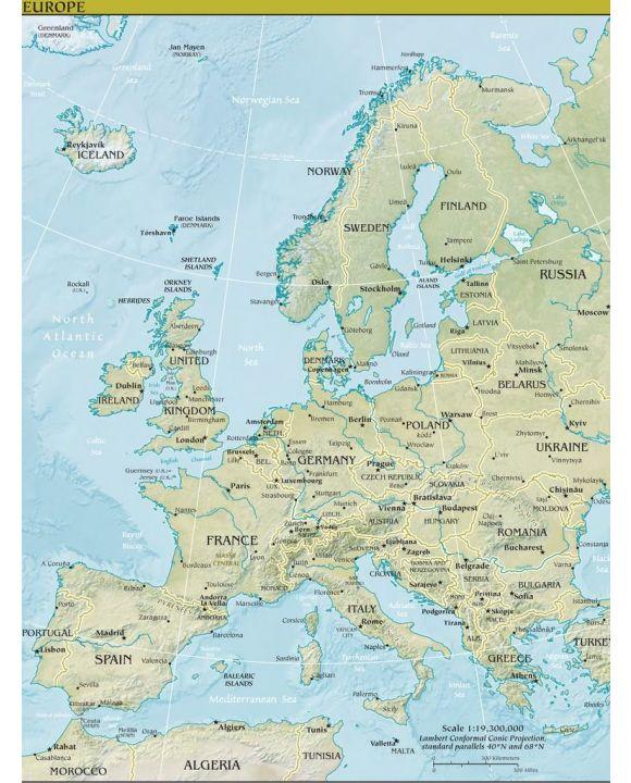 Lais Puzzle - Landkarte Europa - 100, 200, 500, 1.000 & 2.000 Teile