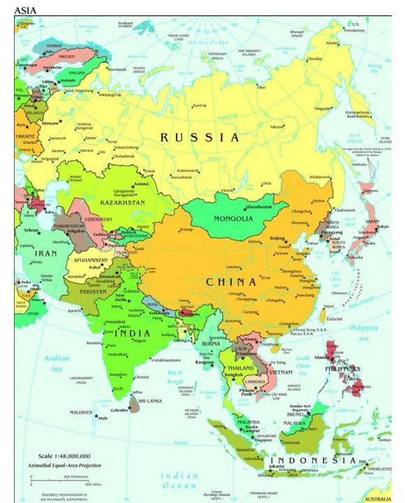 Lais Puzzle - Landkarte Asien - 500 & 1.000 Teile