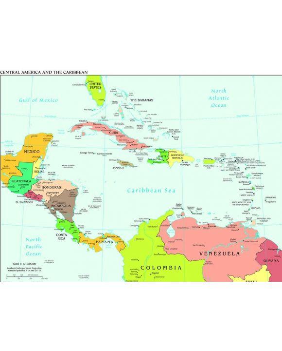 Lais Puzzle - Landkarte Zentralamerika und Karibik - 1.000 Teile