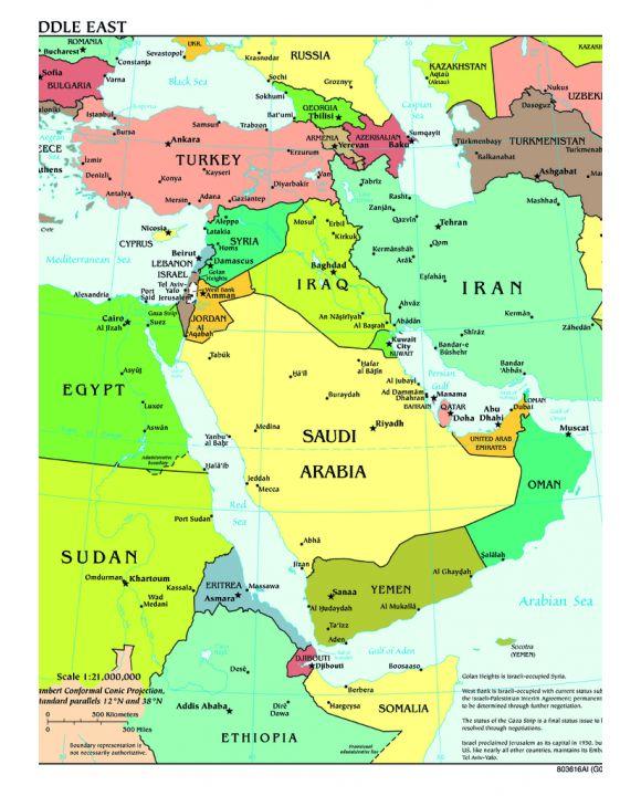 Lais Puzzle - Landkarte Mittlerer Osten - 1.000 Teile