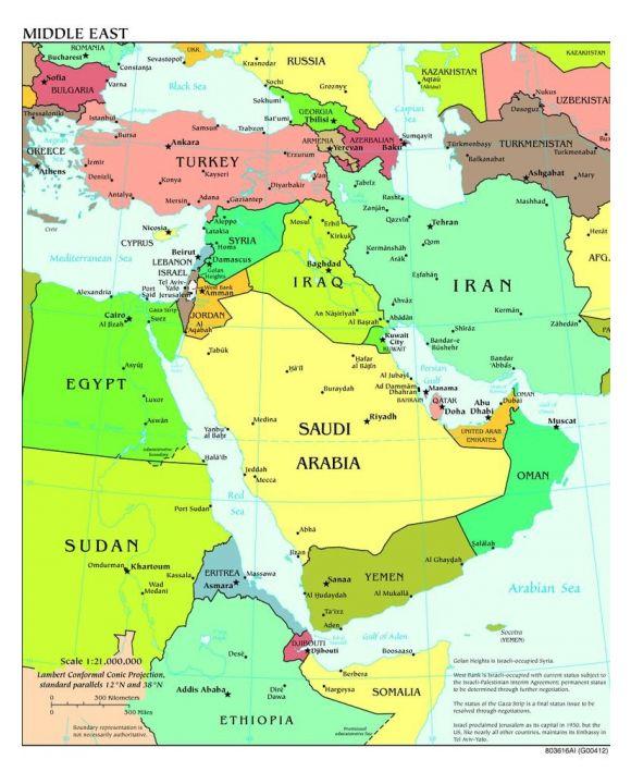 Lais Puzzle - Landkarte Mittlerer Osten - 100, 200, 500, 1.000 & 2.000 Teile