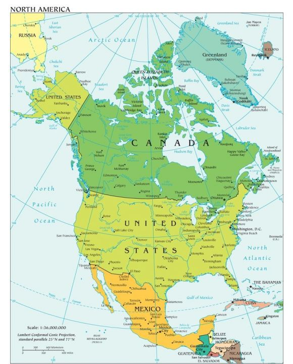 Lais Puzzle - Landkarte Nordamerika - 1.000 Teile