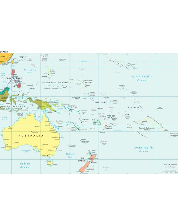Lais Puzzle - Landkarte Ozeanien - 1.000 Teile