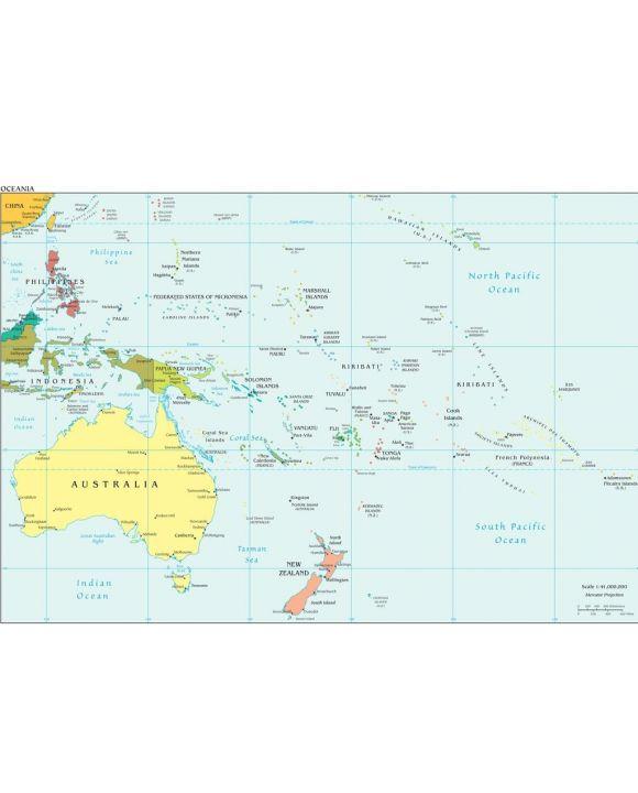 Lais Puzzle - Landkarte Ozeanien - 100, 200, 500, 1.000 & 2.000 Teile