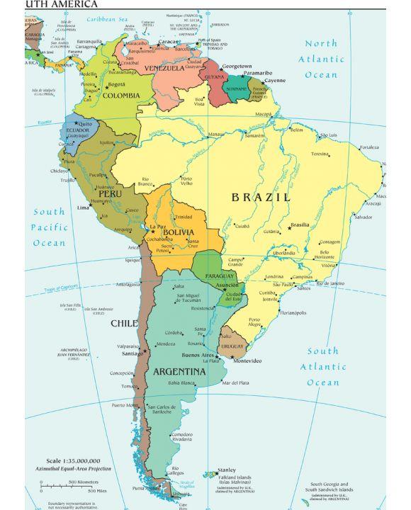 Lais Puzzle - Landkarte Südamerika - 500 & 1.000 Teile