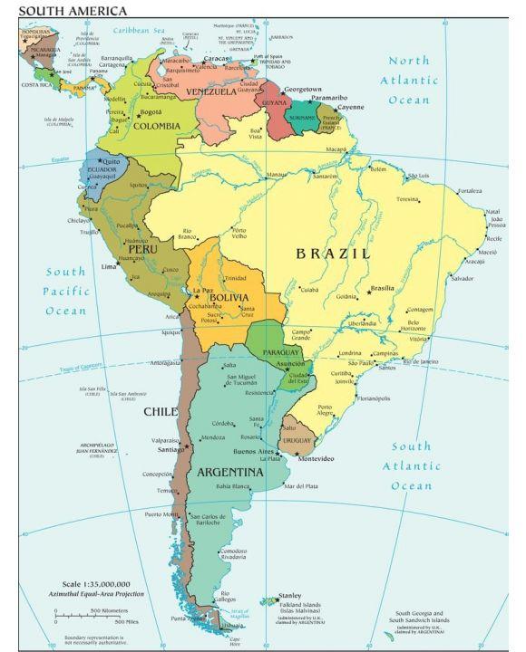Lais Puzzle - Landkarte Südamerika - 100, 200, 500, 1.000 & 2.000 Teile