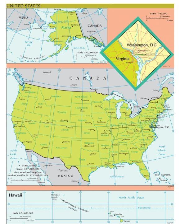 Lais Puzzle - Landkarte USA - 100, 200, 500, 1.000 & 2.000 Teile