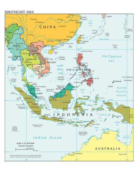 Lais Puzzle - Landkarte Südostasien - 500 & 1.000 Teile