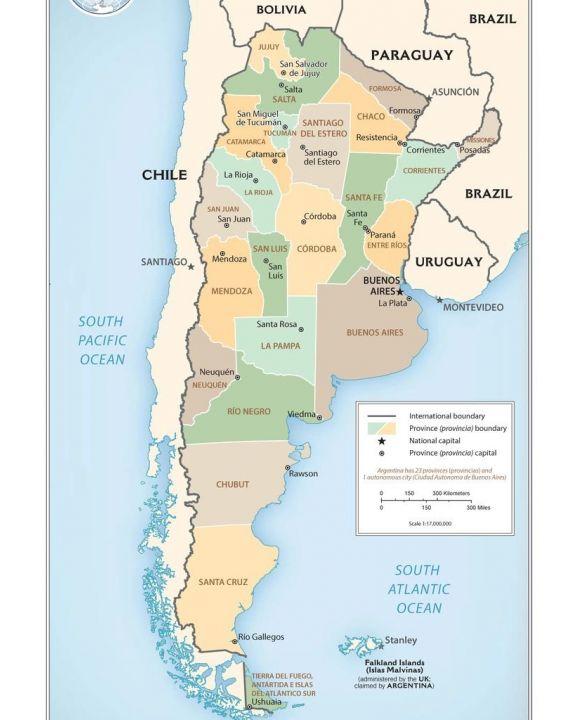 Lais Puzzle - Landkarte Argentinien Verwaltung - 100, 200, 500 & 1.000 Teile