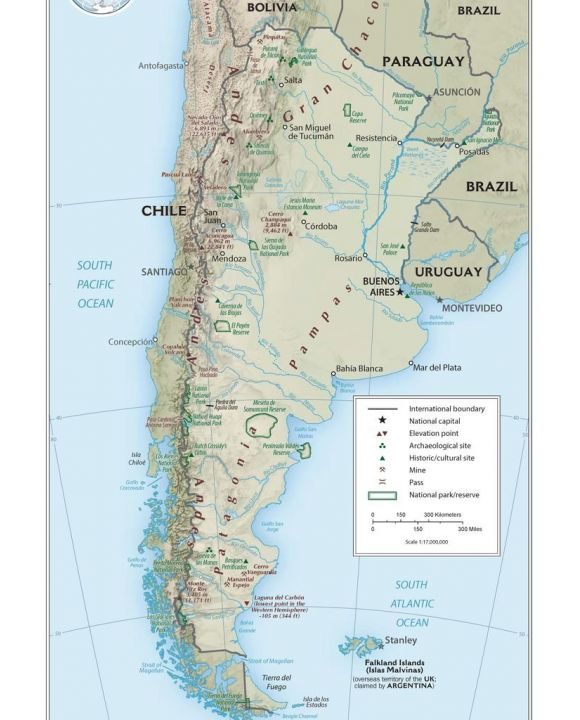 Lais Puzzle - Physische Landkarte Argentinien - 2.000 Teile