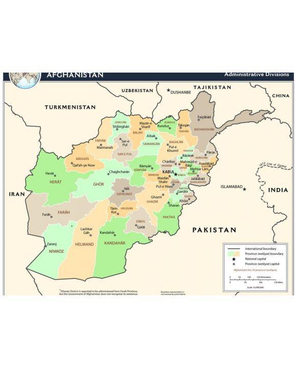 Lais Puzzle - Landkarte Afghanistan Verwaltung - 1.000 Teile