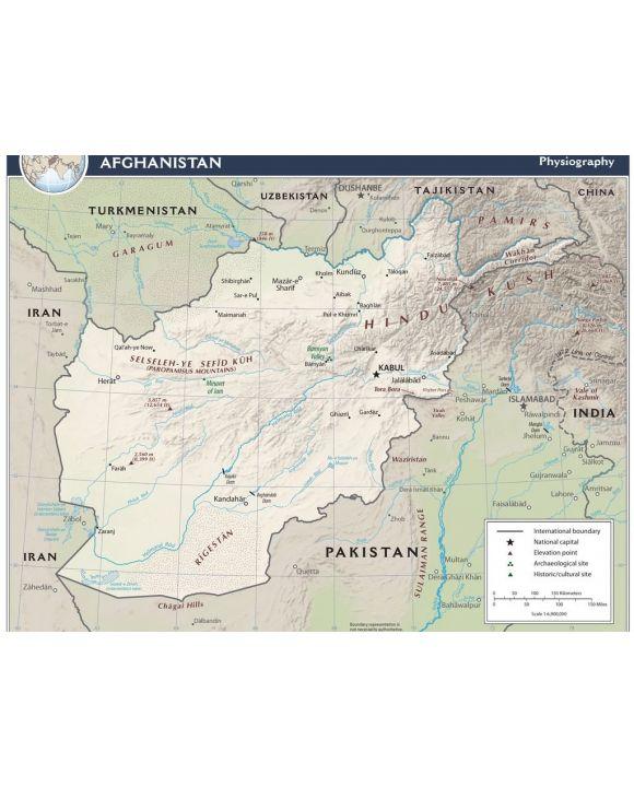 Lais Puzzle - Physische Landkarte Afghanistan - 1.000 Teile