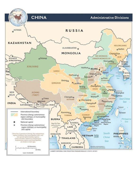 Lais Puzzle - Landkarte China Verwaltung - 1.000 Teile