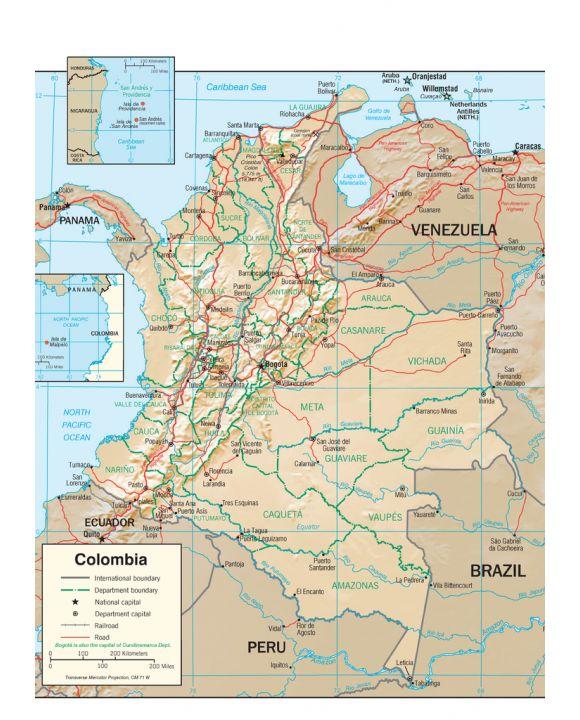 Lais Puzzle - Physische Landkarten Kolumbien - 1.000 Teile