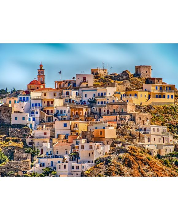 Lais Puzzle - Griechenland Dorf Karpathos Hügel - 1.000 Teile