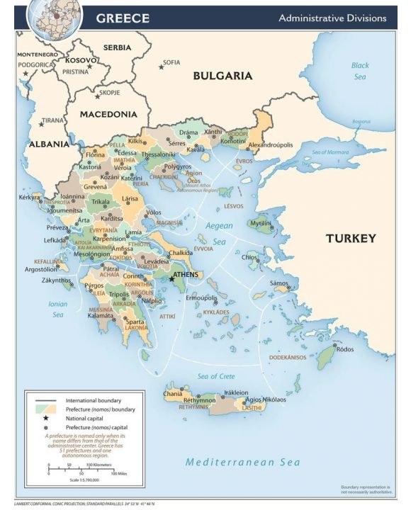 Lais Puzzle - Landkarte Griechenland Verwaltung - 100, 200, 500, 1.000 & 2.000 Teile