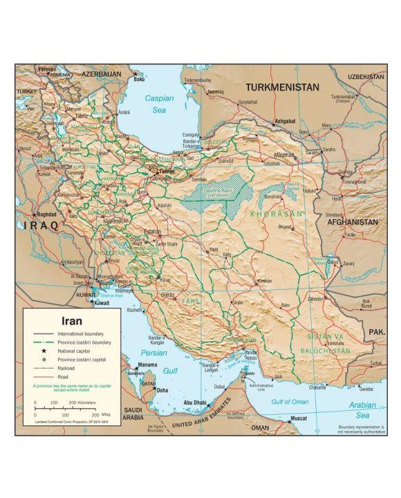 Lais Puzzle - Physische Landkarte Iran - 100, 200, 500, 1.000 & 2.000 Teile