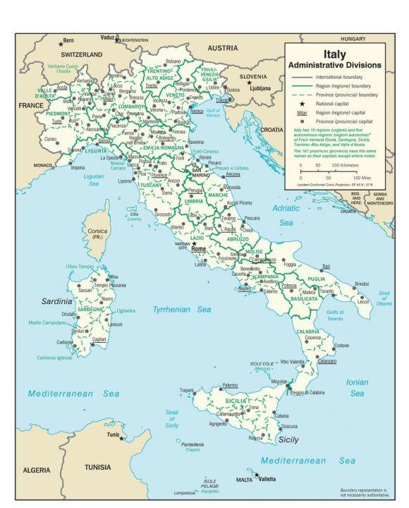 Lais Puzzle - Landkarte Italien Verwaltung - 100, 200, 500, 1.000 & 2.000 Teile