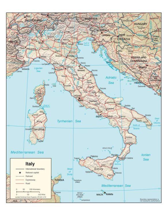 Lais Puzzle - Physische Landkarte Italien - 100, 200, 500, 1.000 & 2.000 Teile